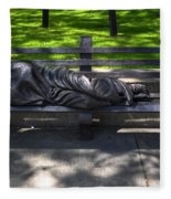 02 Homeless Jesus By Timothy P Schmalz Fleece Blanket