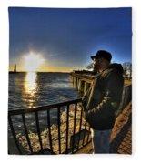 02 Me Sunset 16mar16 Fleece Blanket