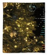 02 Xmas Trees At Canalside And Seneca One Tower Dec2015 Fleece Blanket