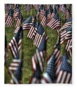 03 Flags For Fallen Soldiers Of Sep 11 Fleece Blanket