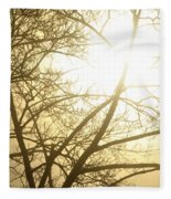 03 Foggy Sunday Sunrise Fleece Blanket