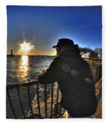 03 Me Sunset 16mar16 Fleece Blanket