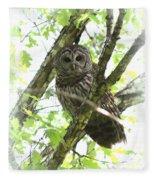 0304-002 - Barred Owl Fleece Blanket