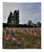 04 Flags For Fallen Soldiers Of Sep 11 Fleece Blanket