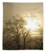 04 Foggy Sunday Sunrise Fleece Blanket