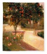 Garden Alcazar Seville Fleece Blanket
