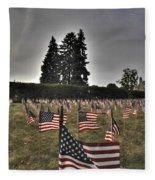 05 Flags For Fallen Soldiers Of Sep 11 Fleece Blanket