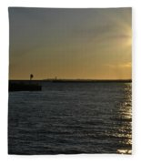 05 Sunset 16mar16 Fleece Blanket