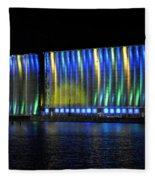 06 Grain Elevators Light Show 2015 Fleece Blanket