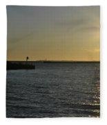 06 Sunset 16mar16 Fleece Blanket