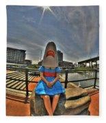07 Shark Girl Fleece Blanket