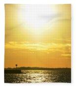 07 Sunset 16mar16 Fleece Blanket