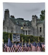 08 Flags For Fallen Soldiers Of Sep 11 Fleece Blanket