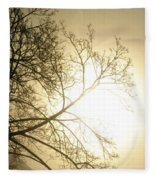 08 Foggy Sunday Sunrise Fleece Blanket