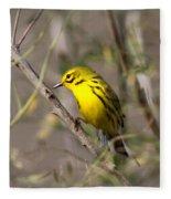 0839 -yellow Warbler Fleece Blanket