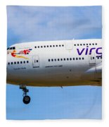 A Virgin Atlantic Boeing 747 Fleece Blanket