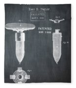 1868 Base For Baseball Players Patent In Black Fleece Blanket