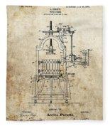 1903 Wine Press Patent Fleece Blanket