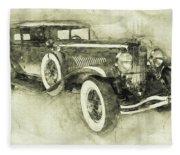 1928 Duesenberg Model J 3 - Automotive Art - Car Posters Fleece Blanket