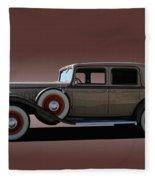 1932 Classic Buick 4 Door Sedan Fleece Blanket