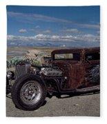 1932 Chevrolet Rat Rod Fleece Blanket