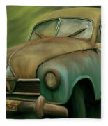 1950's Vintage Borgward Hansa Sports Coupe Car Fleece Blanket