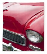 1955 Chevrolet Bel Air Hood Ornament Fleece Blanket