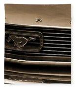 1966 Ford Mustang  Fleece Blanket
