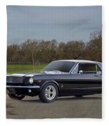 1966 Ford Mustang Coupe I Fleece Blanket