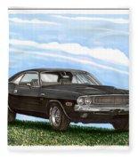 1970 Dodge Challenger Fleece Blanket