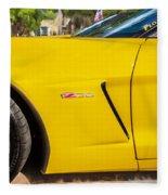 2013 Chevrolet Corvette Zo6 Painted Bw  Fleece Blanket