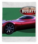 2025 Bugatti Aerolithe Concept With 3 D Badge  Fleece Blanket