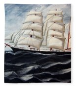 3 Master Tall Ship Fleece Blanket