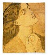 41147 Dante Gabriel Rossetti Fleece Blanket