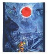 4dpictdswq Marc Chagall Fleece Blanket