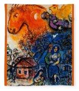 4dpictfdrew3 Marc Chagall Fleece Blanket