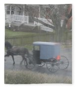 A Buggy Passes By Fleece Blanket