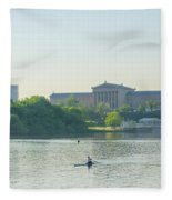 A Day On The River - Philadelphia Fleece Blanket