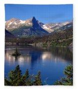 A Glacier Lake Fleece Blanket