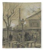 A Guinguette Paris, February - March 1887 Vincent Van Gogh 1853 - 1890 Fleece Blanket