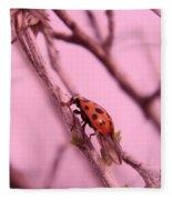 A Ladybug   Fleece Blanket