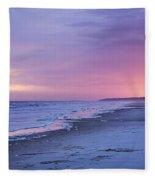 A Night On The Beach Begins Fleece Blanket
