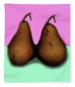 A Pair Of Pears Fleece Blanket