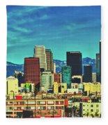 A Slice Of Los Angeles Fleece Blanket
