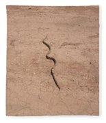 A Snake On The Dirt Fleece Blanket
