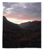 A Sunset View Through A Valley In The Southwest Foothills Of The Sierra Nevadas Fleece Blanket