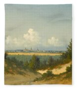 A View Of Tallinn From Nomme Fleece Blanket
