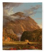 A View Of The Mountain Pass Called The Notch Of The White Mountains, Crawford Notch Fleece Blanket