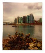 A View Of Vancouver Fleece Blanket
