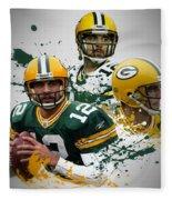 Aaron Rodgers Packers Fleece Blanket